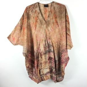Neeru Kumar Anthropologie Women Boho Tie Dye Tunic